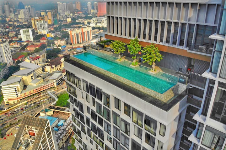 two bedroom at klcc with rooftop pool
