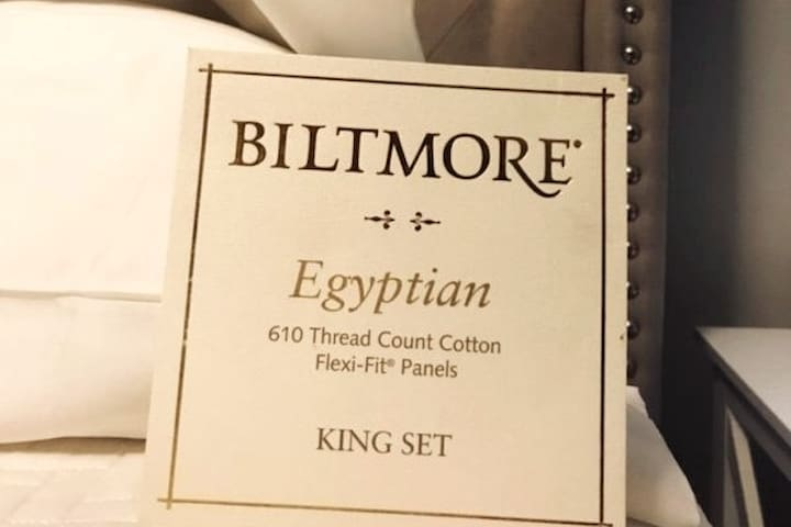 Bedrooms have Egyptian cotton sheets