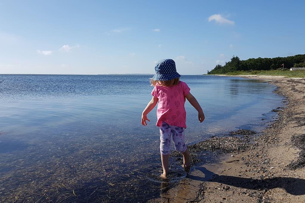 Very childfriendly Beach