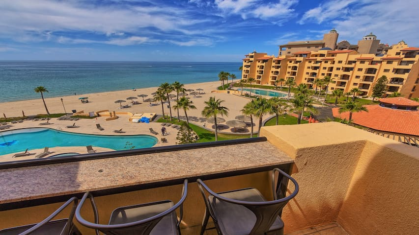 Relax at the Patio Bar and enjoy the amazing view of the beach. Puerto Peñasco