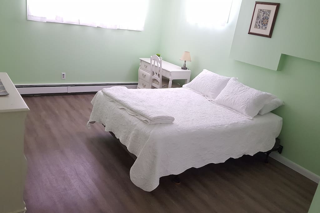Master bedroom with two queen beds (picture needs to be updated to show recently added second queen bed)
