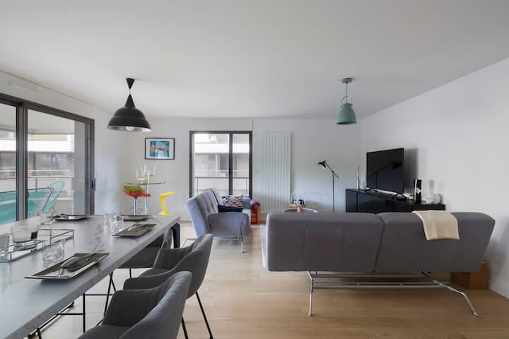 LE CIPRIANI - Apt 80m² avec 2 chambres et parking