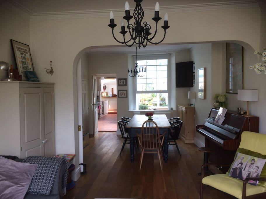 large sitting and dining room
