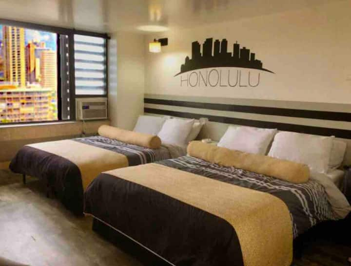 RareLayout*2Qn Beds*Great for Groups,Friends,