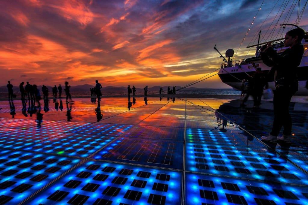 Summer sunset in Zadar