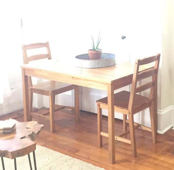 Kitchen table. There are four chairs - two are just not shown in this photo. :)