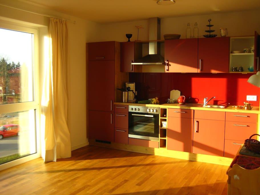 Küche / Abendsonne