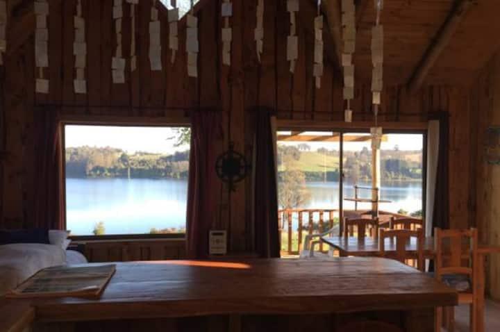 Cabaña con vista panorámica al Lago