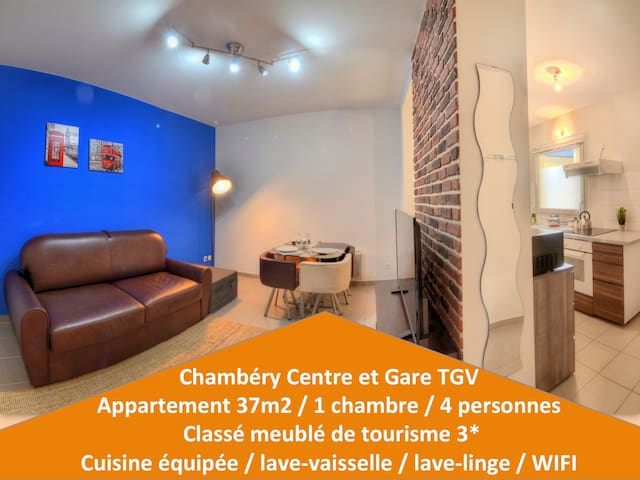 Lodge UK ♥ Gare ★ Cosy  ☕ Parking ♥ Clim★