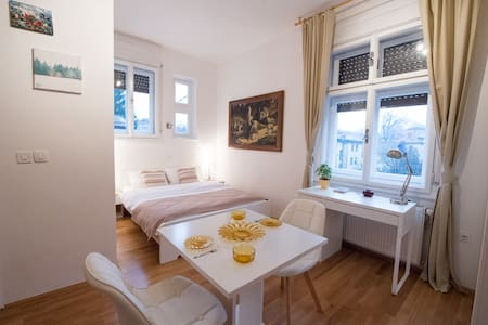 Bright studio near center + free parking - Ljubljana - Lejlighed