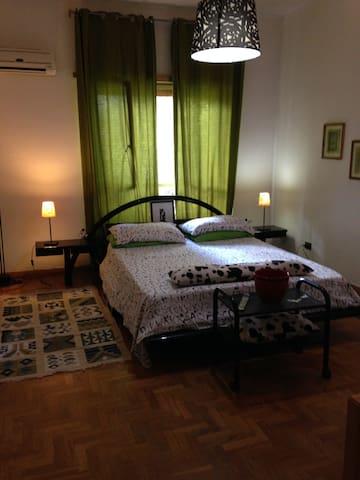 Quiet room with  garden view in Rome