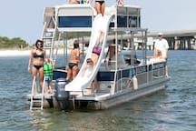 Destin isn't just about the beach.  Our bay is amazing and dotted with spots like Pirates Cove, Crab Island and Joe Bayou.  Less than a mile from Mojo you can rent just about any type of boat imaginable and spend a fun day exploring our waterways!