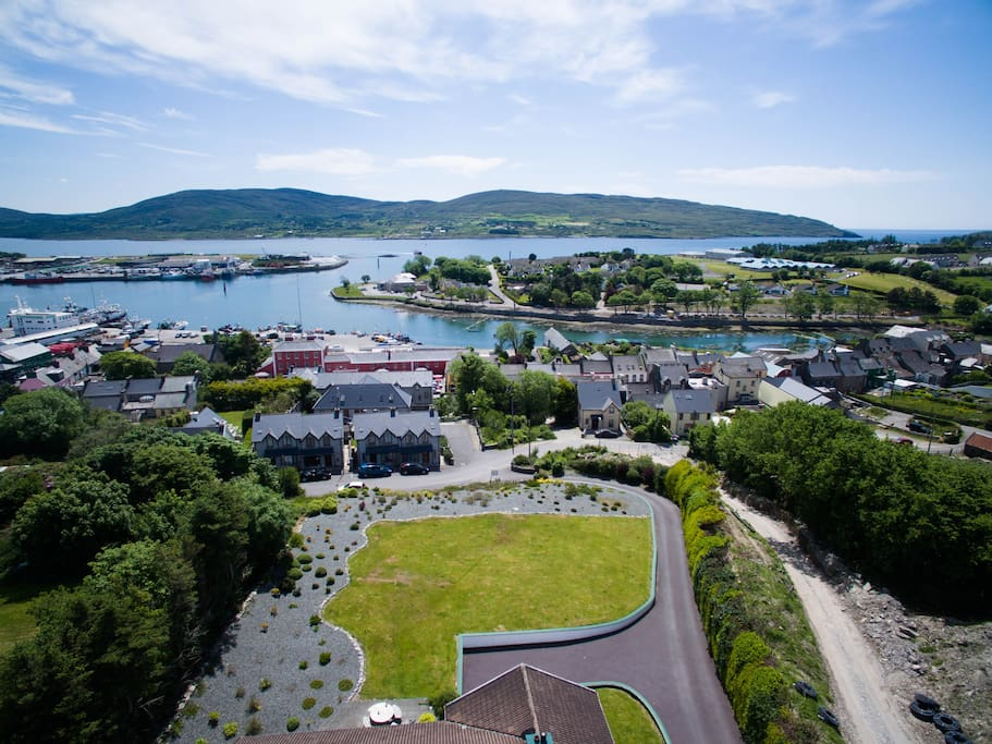 Aerial View from Island View House B&B