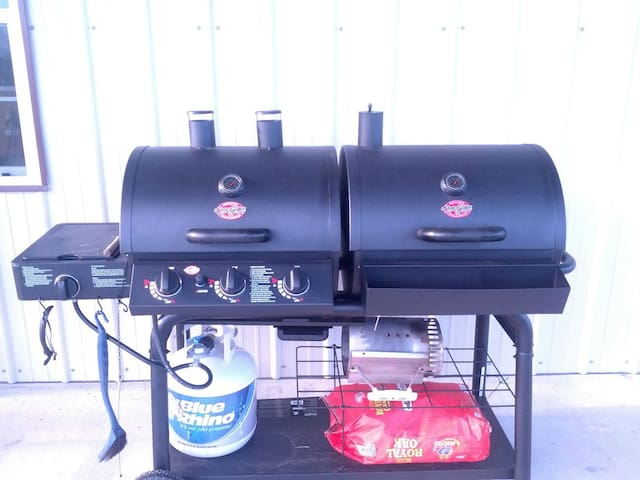 Both charcoal and gas grill...