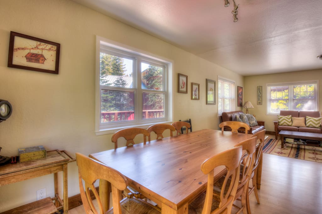 Dining room with great Tahoe views