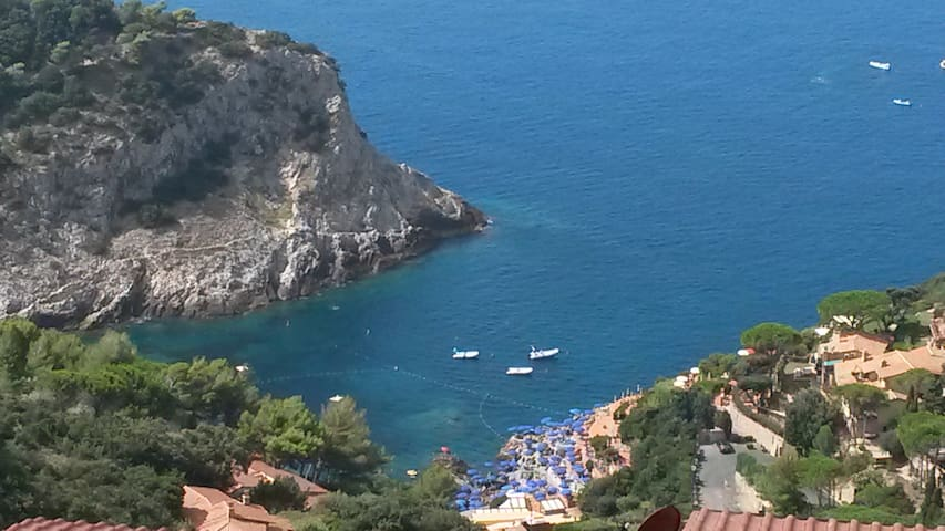 Tuscany Argentario sea  house with terrace  view