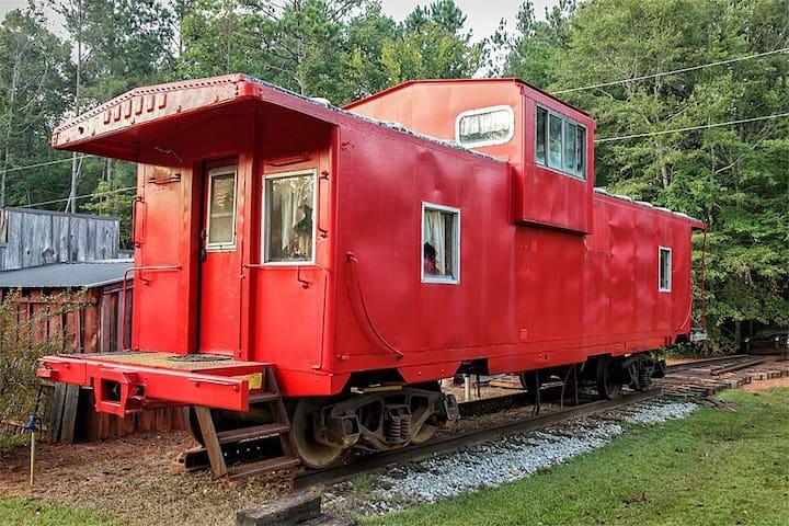 1940s era train caboose turned Tiny home!