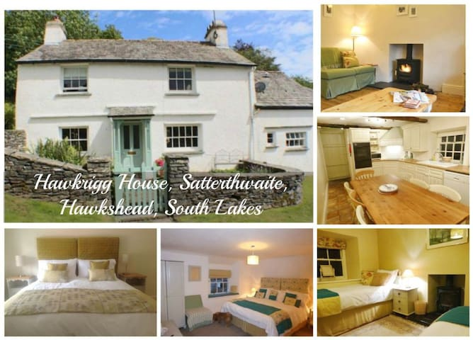 HAWKRIGG HOUSE, Satterthwaite, Nr Hawkshead, South Lake District - Ullverston,  - Huis