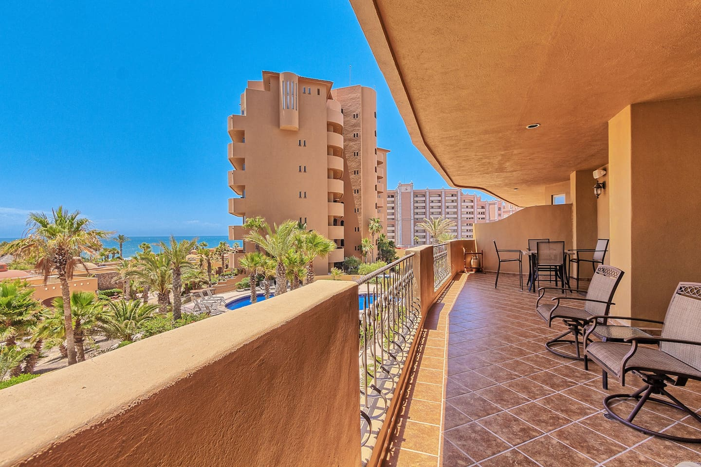 We offer one of the biggest patios in Rocky Point!!