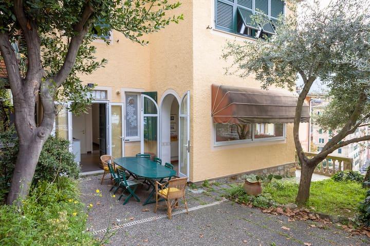 Villa Elviretta: in centro a Camogli, vista mare! - Camogli - Hus