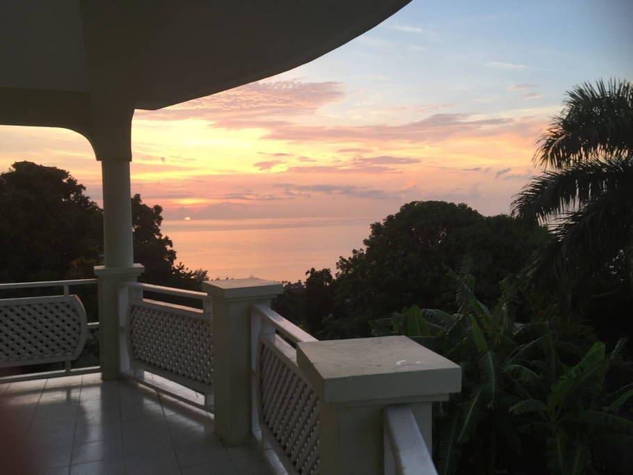 Beautiful Sunsets from the Veranda