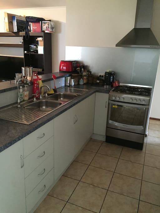 Lovely kitchen with stainless steel appliances.