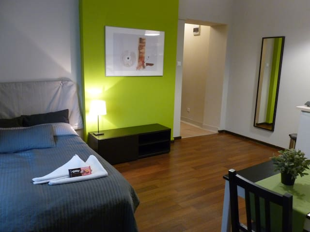 Safe studio in the city center 105L - Katowice - Apartemen