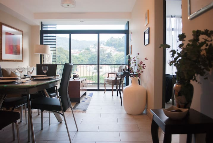 Centrally-Located 7th Floor Apt in Modern Building