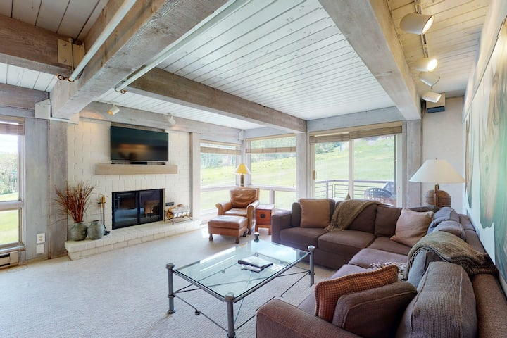 Ski-In/Ski-Out Snowmass Home w/Shared Pool & Hot Tub/Private W/D/Free WiFi/Gym!