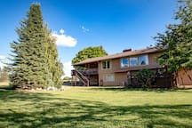 Private Big backyard on five acres with Mountain Views