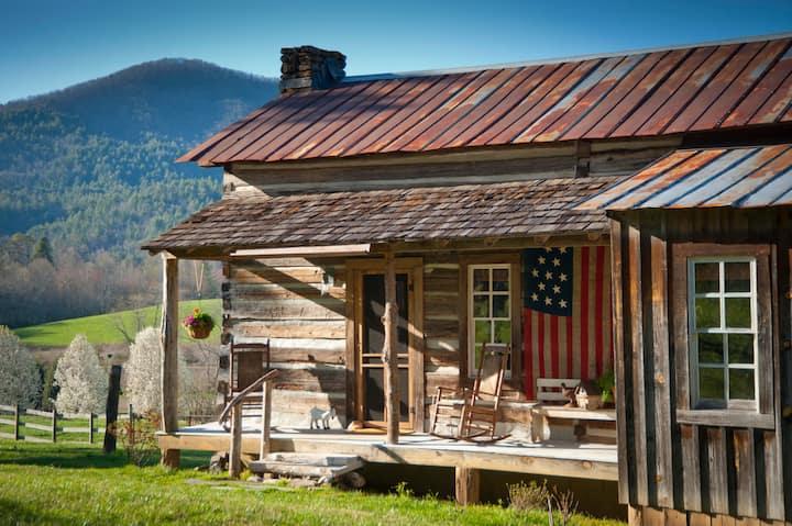 1880s authentic log cabin,  NE Georgia mountains