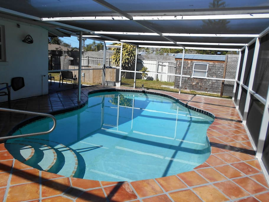 Heated Pool with Mexican Tile Deck