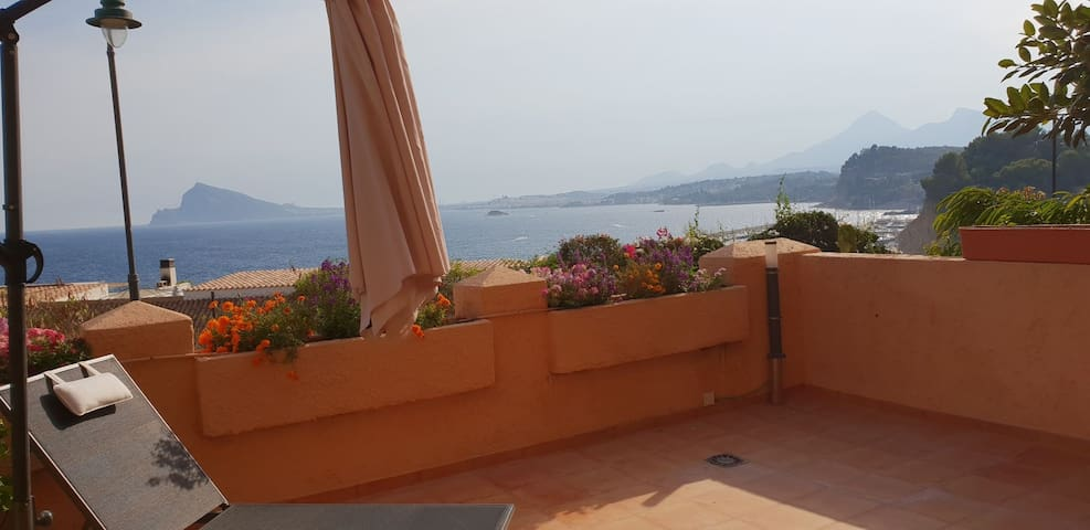 Large terrace with breathtaking views!!