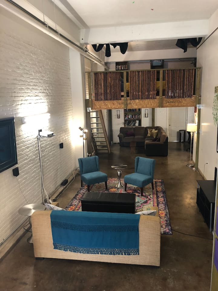 Living space from kitchen
