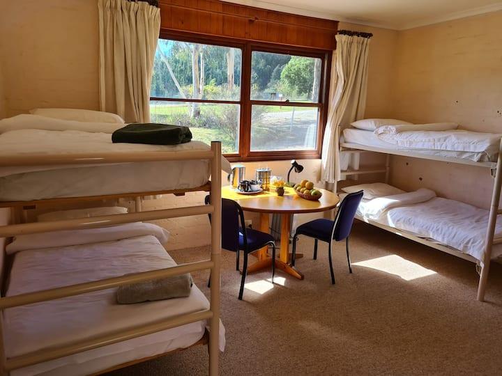 Hotel room at Tibetan Buddhist retreat centre
