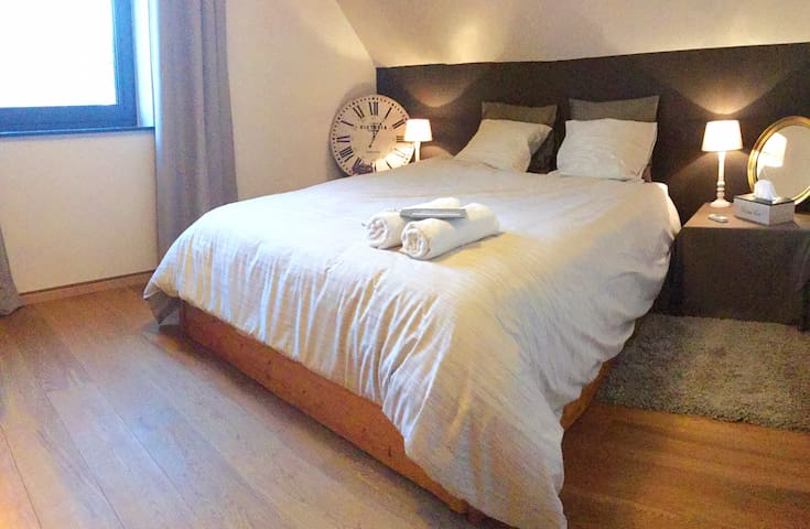 Cosy room, private bathroom, parking .. Very calm! - Mons (Saint-Symphorien) - Villa
