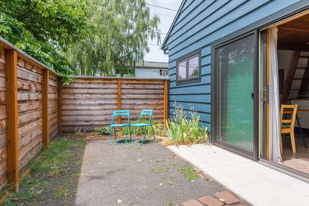 Your private, fenced patio