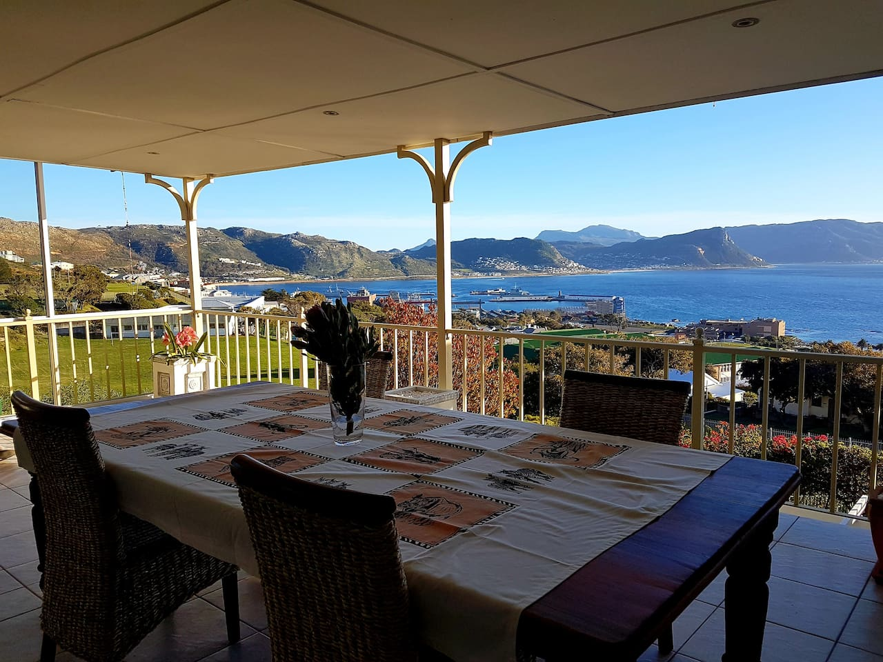 Dining Table overlooking False Bay
