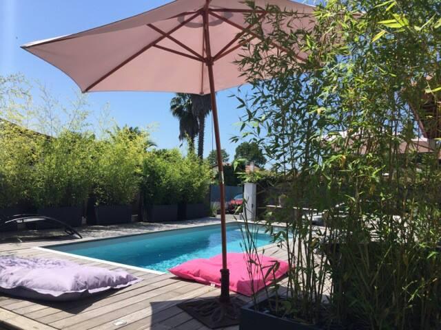 Maison Anglet avec piscine chauffée (10 pers)