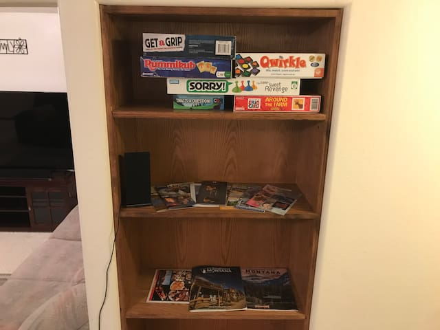 Games and local brochures!