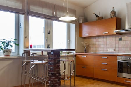Penthouse apartment with great panoramic city view - Vilna