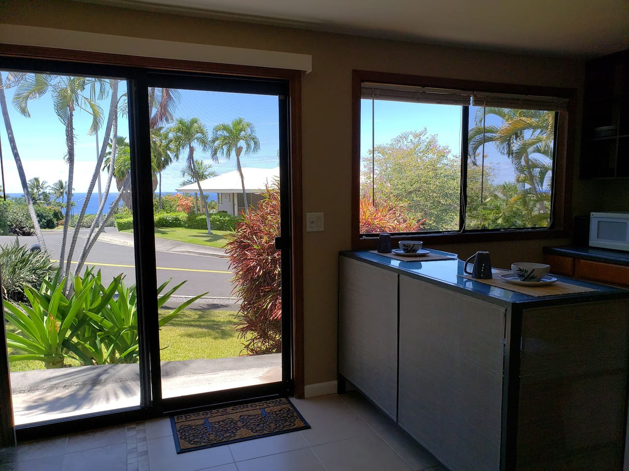 Ocean Views from this Private Studio Unit w/Full Bath in Kona