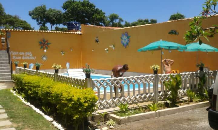 Linda Pousada com 2 piscinas e churrasqueira