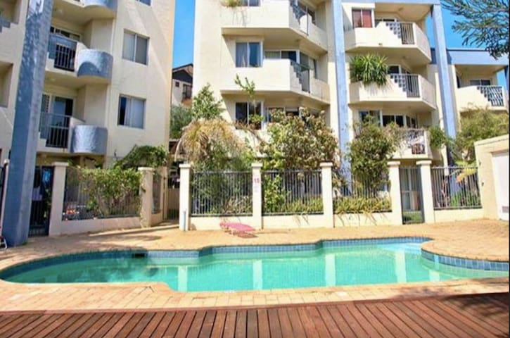 Fremantle, poolside apartment