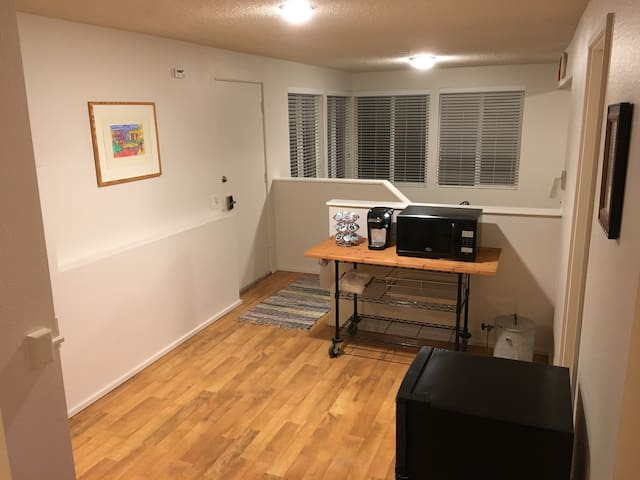 Private entrance, Keurig Coffee, Microwave, Mini Fridge/Freezer