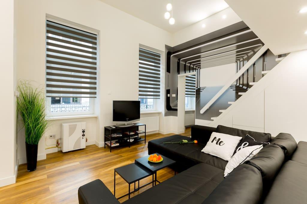 3D Budapest Living Room