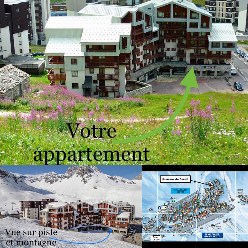 Appartement avec grande terrasse vu montagne