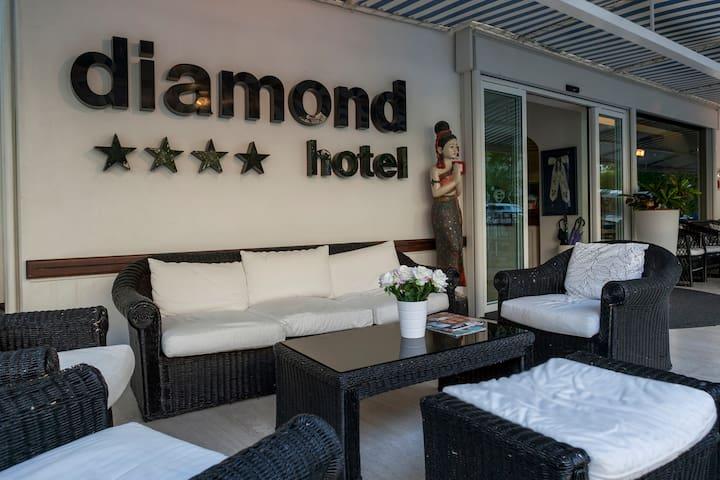 Camera - Hotel Diamond - Riccione - Hotellipalvelut tarjoava huoneisto