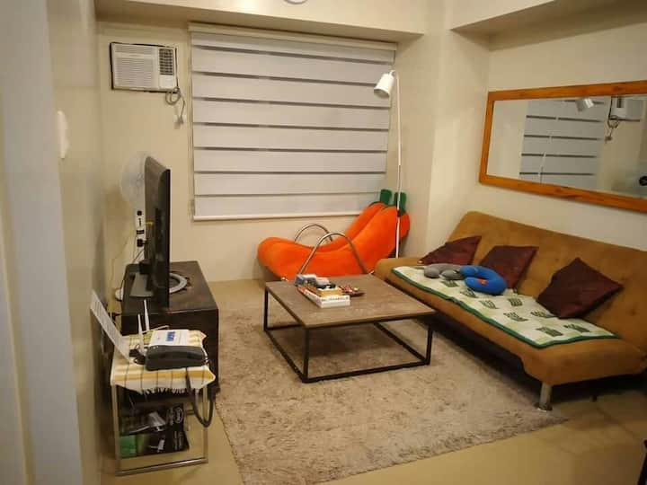 12flr,41sq, 1BR,2 Beds, wifi,2AC,2tv,H2o dispenser