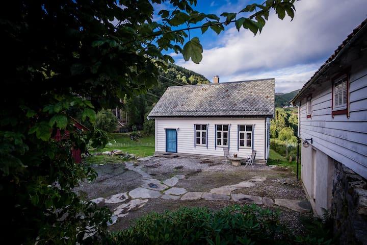 Traditional timber house on ecofarm